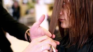 Брондирование и стрижка на средние волосы