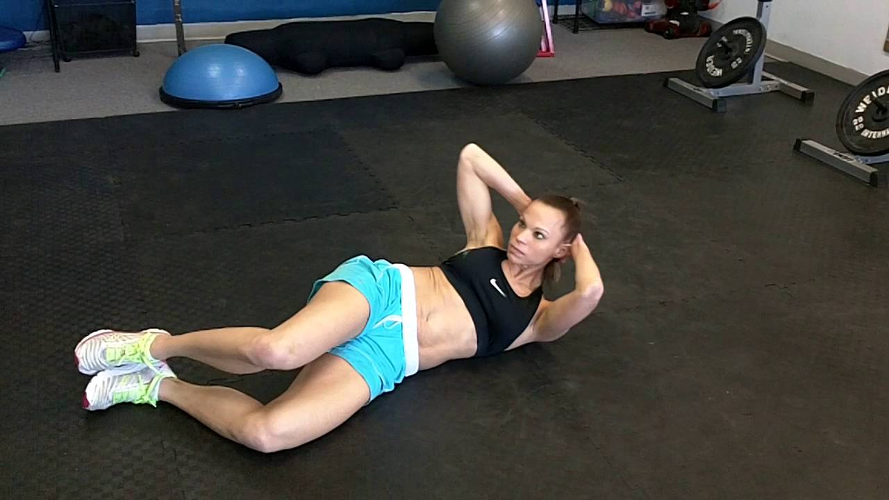 Oblique Crunches From Floor Youtube