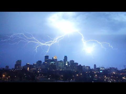 Downtown Minneapolis Lightning Storm
