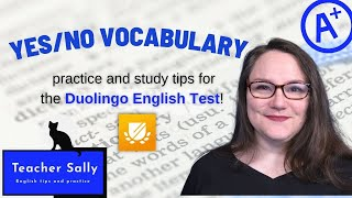 Vocabulary Practice and study tips for the Duolingo English Test, Yes/No Vocabulary #DuolingoEnglish screenshot 1