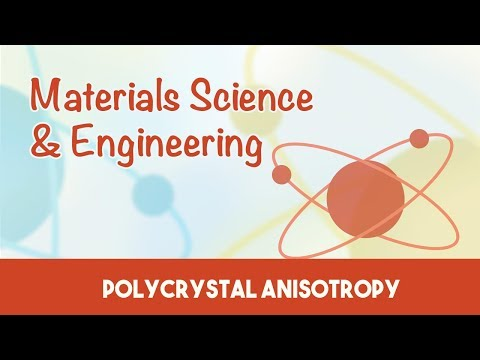Material Science & Engineering | Single Polycrystal Anisotropy amorphous | 3.8