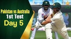 Pakistan vs Australia in UAE 2018 | 1st Test Day 5 Full Highlights | PCB