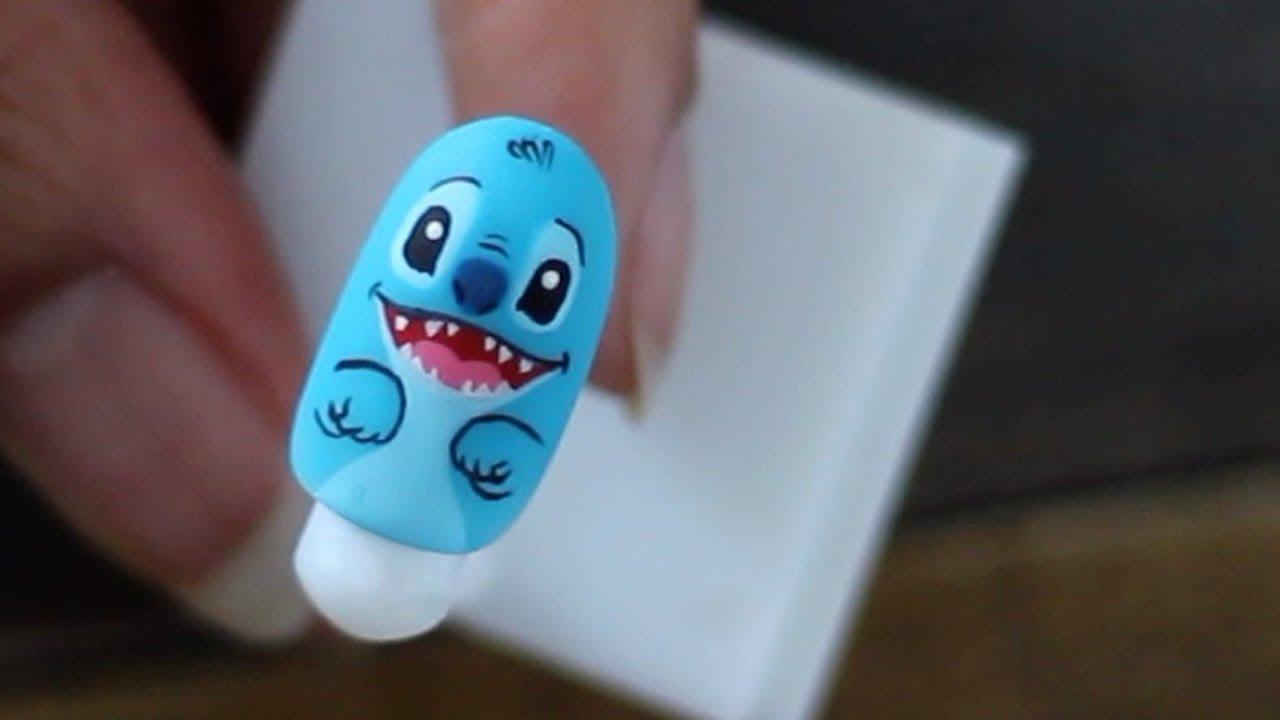 lilo & stitch nail art abetweene