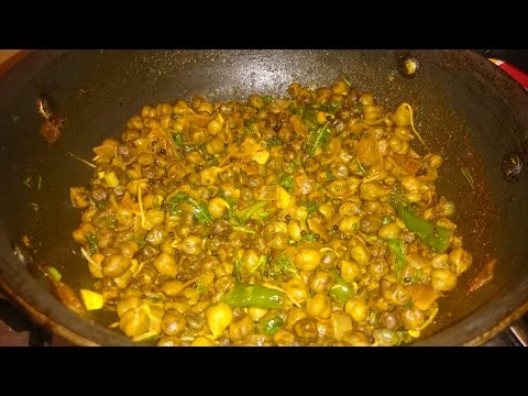 Chana Sabzi Recipe, Chickpea Curry recipe, Sprouted Chickpea Curry recipe