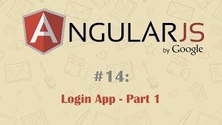 AngularJS التعليمي 14: إنشاء تسجيل الدخول التطبيق - الجزء 1
