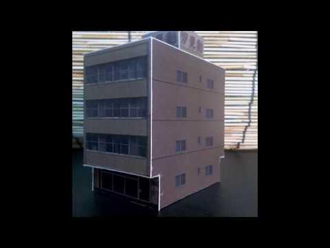 写真からNゲージサイズの小型ビルのペーパークラフトをつくってみた2 , YouTube