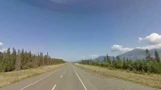 Google street view timelapse. Alaska Highway (Yukon, Canada) Part 1