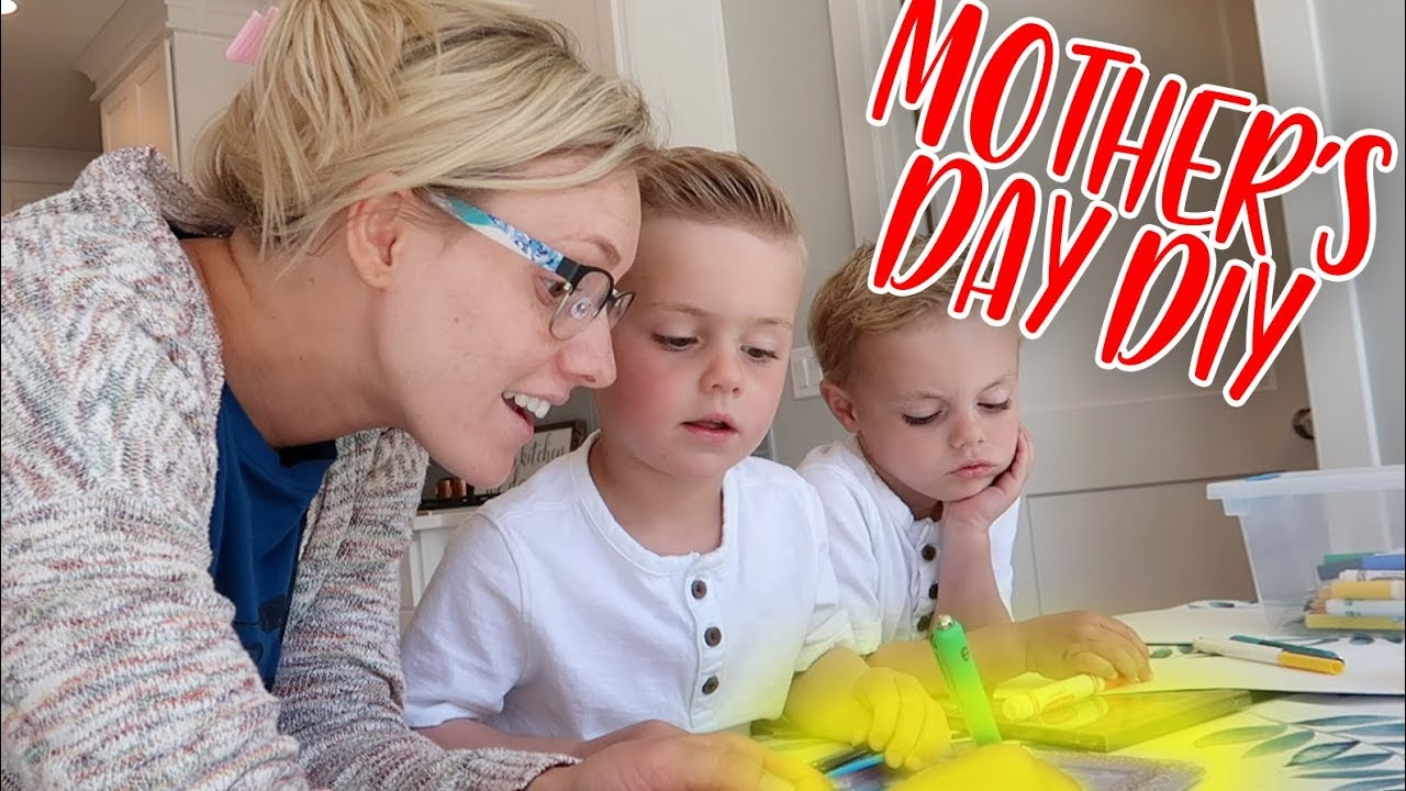 kids make cute and simple diy mother 39 s day gift ellie and jared youtube. Black Bedroom Furniture Sets. Home Design Ideas