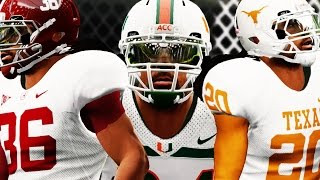 NCAA 14 Road to Glory Gameplay - National Signing Day & 1st Game w/College Team!