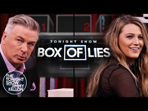Tonight Show Box of Lies with Alec Baldwin and Blake Lively