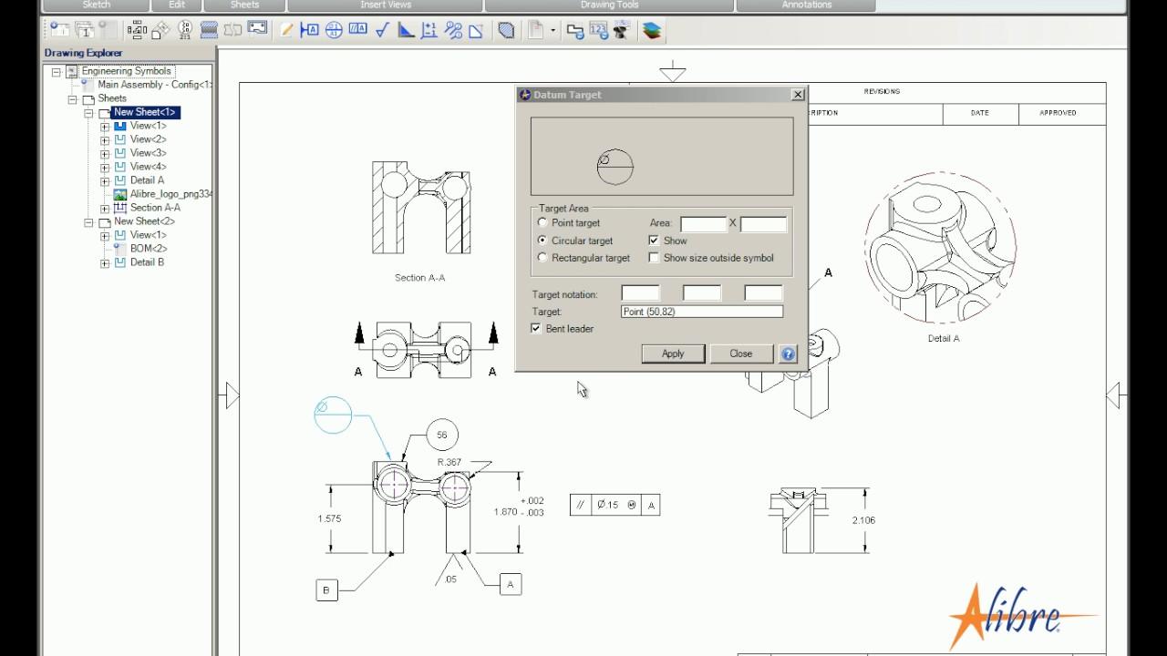 Reference Videos 2d Drawings Boms Alibre Llc