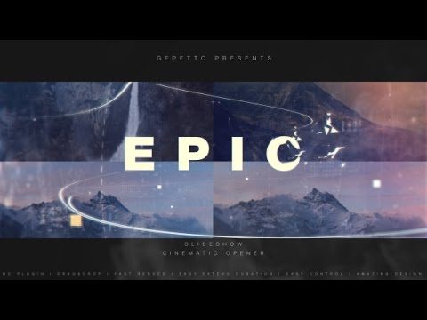 Epic Slideshow I Cinematic Opener | After Effects Template