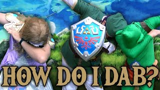 Zelda, Link, and Tingle visit the renaissance festival so they can teach Link how to dab...