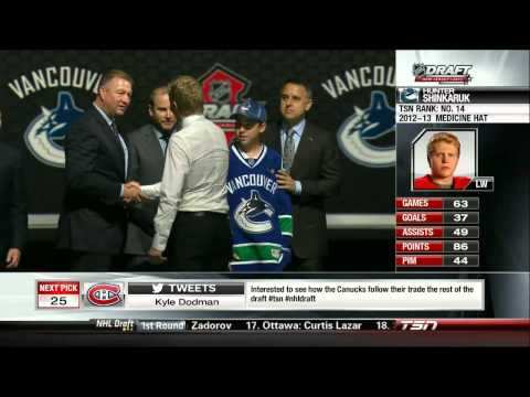 2013 NHL Draft: Canucks Select Hunter Shinkaruk 06/30/13 [HD]