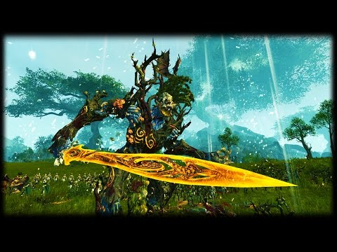EPIC DEFENCE AT THE OAK OF AGES - Total War: Warhammer - Realm Of The Wood Elves Gameplay 3v4 Battle