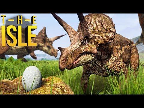 The Isle Realismo - Bebê Triceratops, Enfrentando T-Rex, Família Dinossauro! | (#138) (PT-BR)