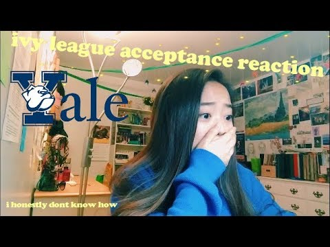 college acceptance reaction: yale university!
