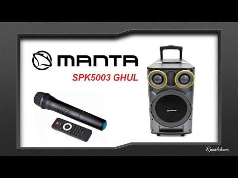Manta GHUL SPK5003 - Potężny głośnik Bluetooth z wieloma funkcjami