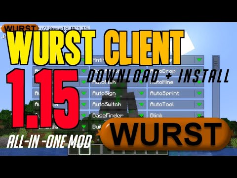 How To Get Wurst Client For Minecraft 1.15 - Download & Install Wurst Client 1.15 (on Windows)