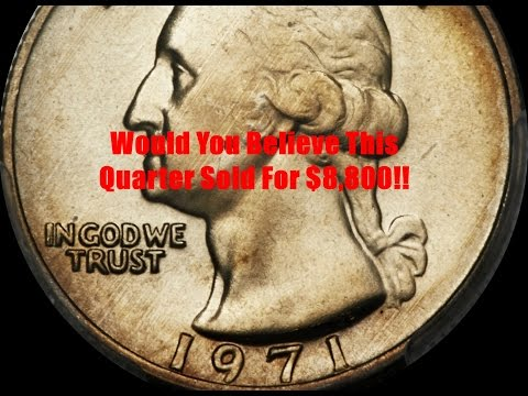 Why Does a 1971 Washington Quarter Sell for $8,800?  Should We Check Our Change For This Coin?
