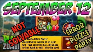 PvZ Heroes [UNBEATABLE!!]: Daily Challenge 09/12/2018 (September 12) – Puzzle Party [September 12th]