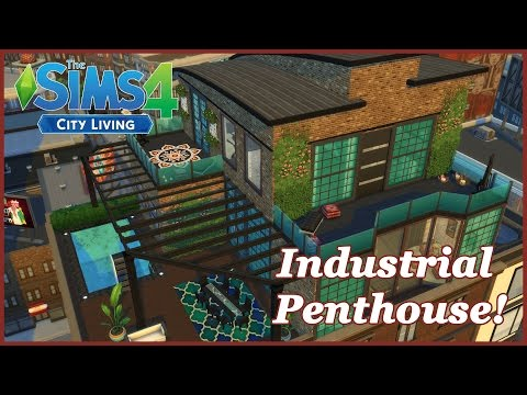 The Sims 4 - City Living - Industrial Penthouse!