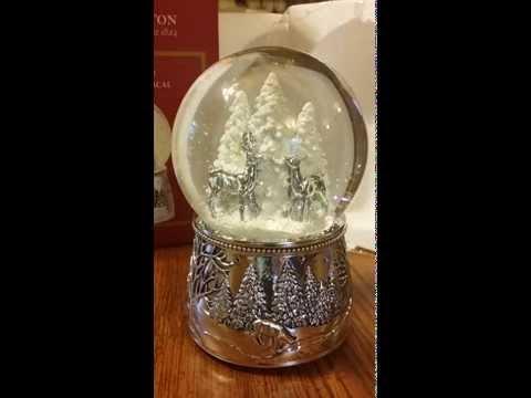 REED & BARTON Alpine Forest Musical Snow Globe