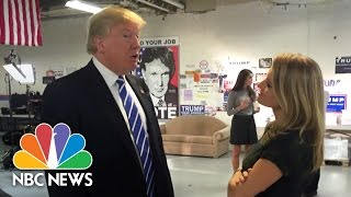 Katy Tur Reflects On Her Year With Donald Trump | NBC News