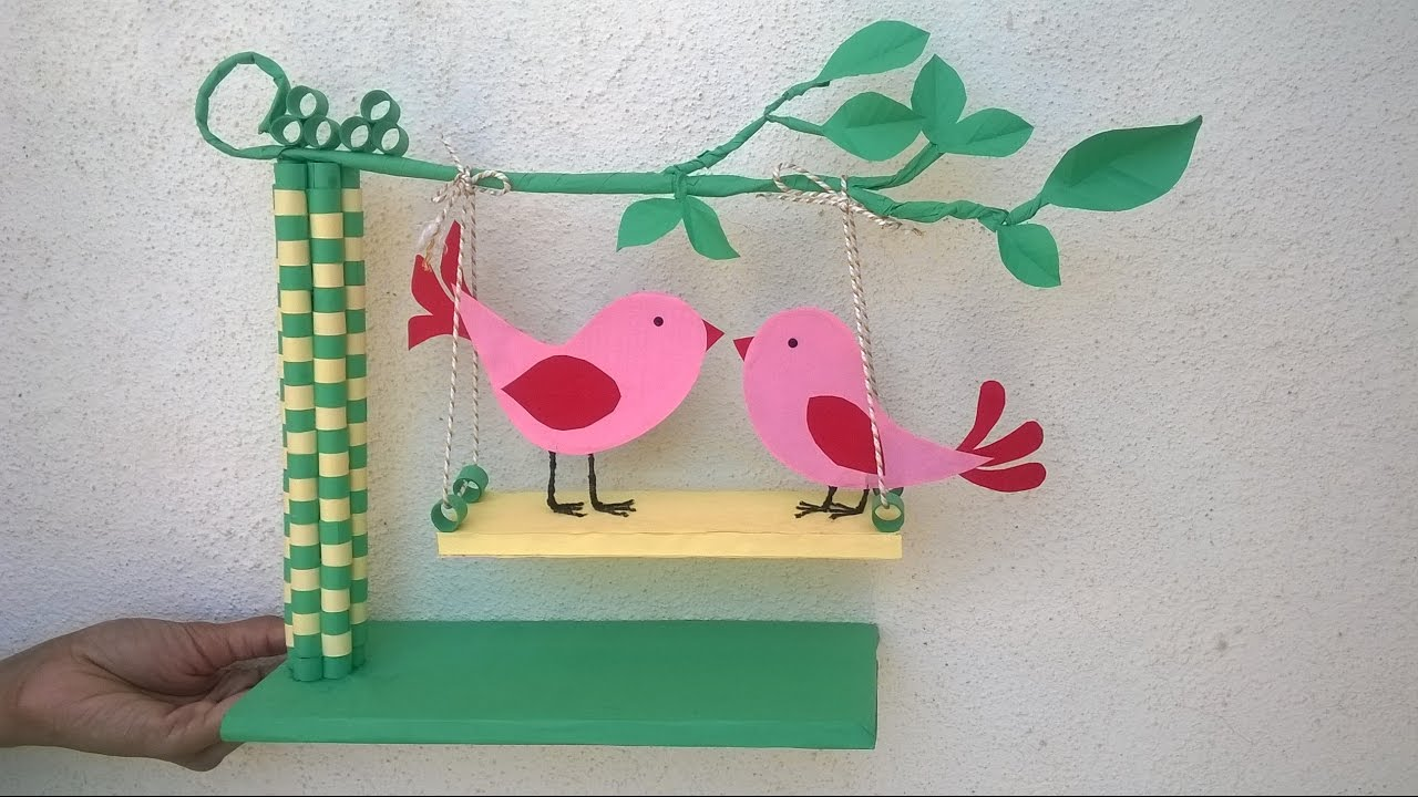 Paper Quilling Showpiece Diy Paper Showpiece For Room Decoration Youtube