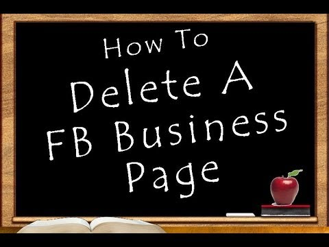 How to delete a facebook business page 2018