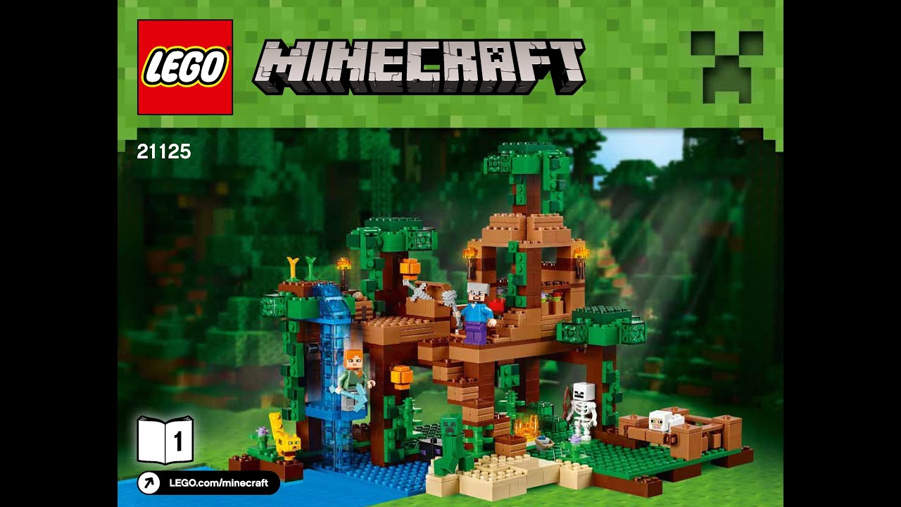 Lego Minecraft The Jungle Tree House 21125 Instructions Book 1 Diy