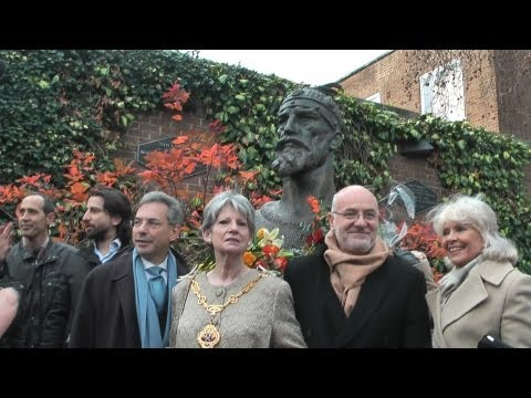 London Statue unveiling ceremony of Albania's National Hero