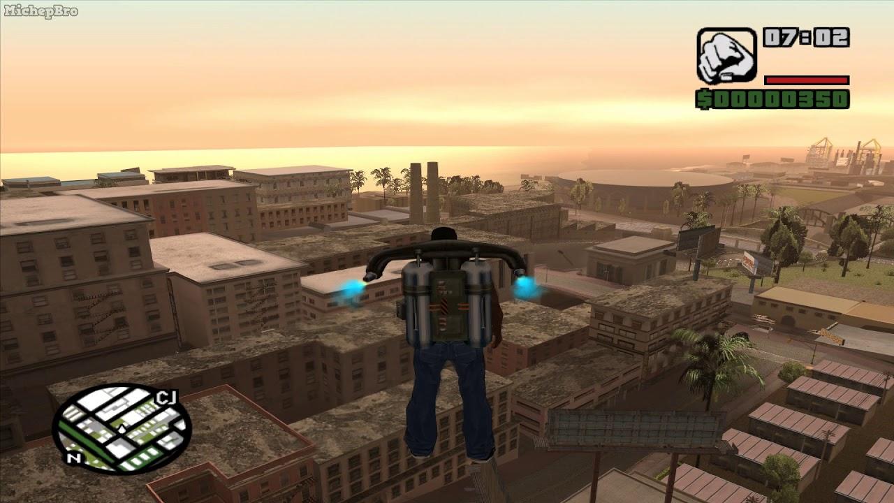 GTA San Andreas - ROCKETMAN (CHEAT CODES) - YouTube