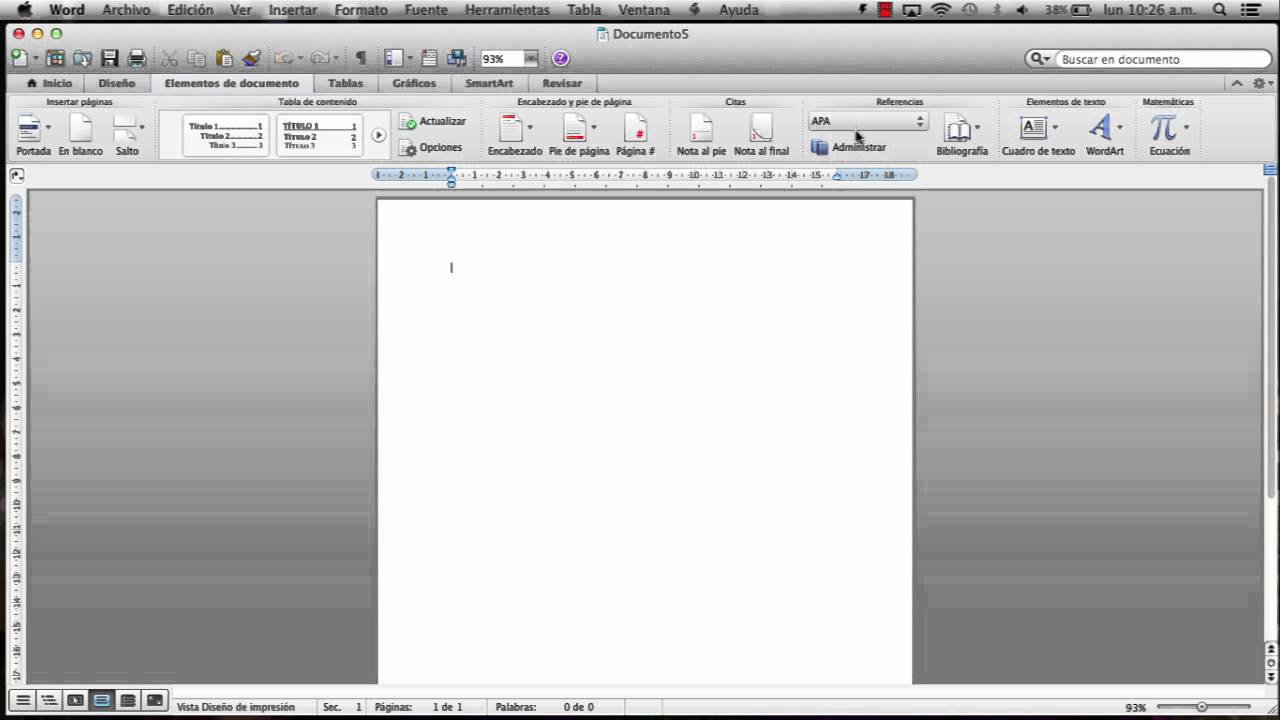 como poner formato apa en word mac