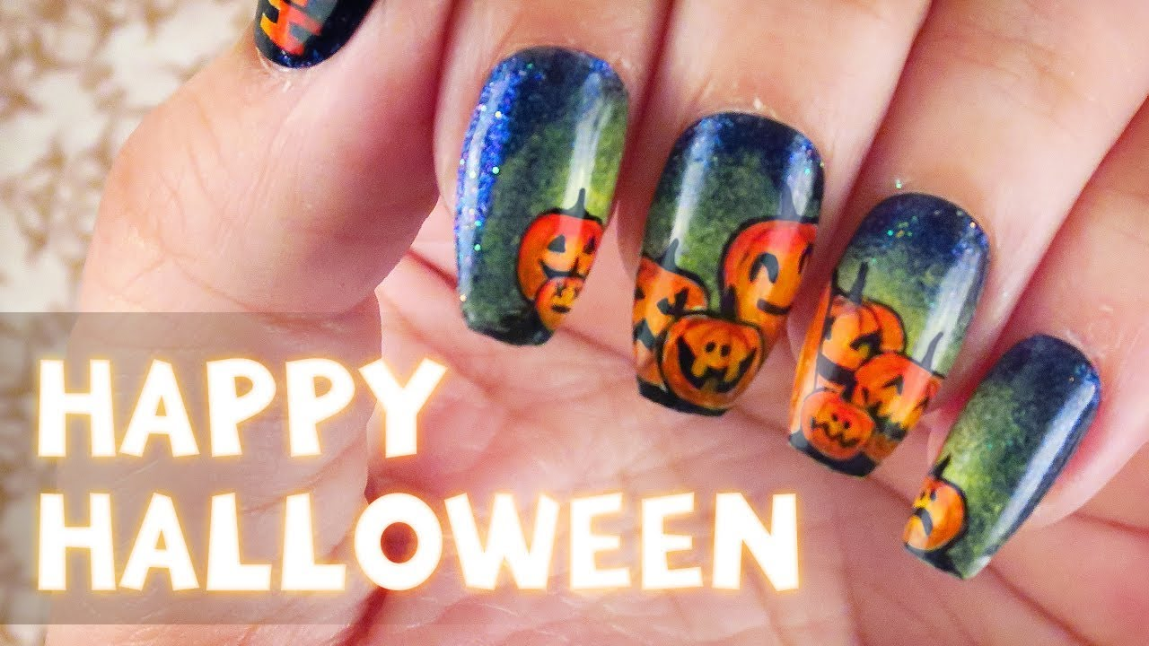 Jack-o\'-Lanterns Nail Art Tutorial | Halloween 2017 - YouTube