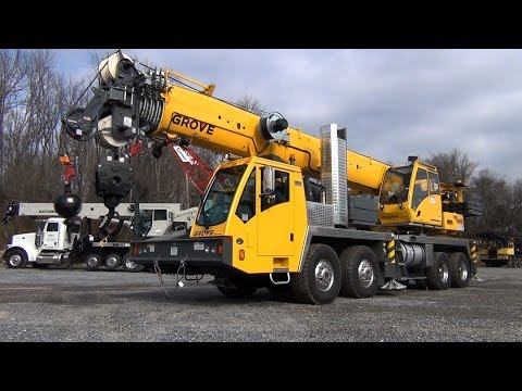 Grove TMS 9000E Truck Crane Ease of Set Up and Features video