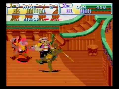 Teenage Mutant Ninja Turtles IV: Turtles in Time (Co-op) -- Scene 5: Skull and Crossbones