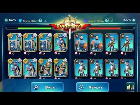 Bronze Army Destroys Gold Wall Bug - Art Of Conquest - Legend Ronny Vs Aliado - Server 33