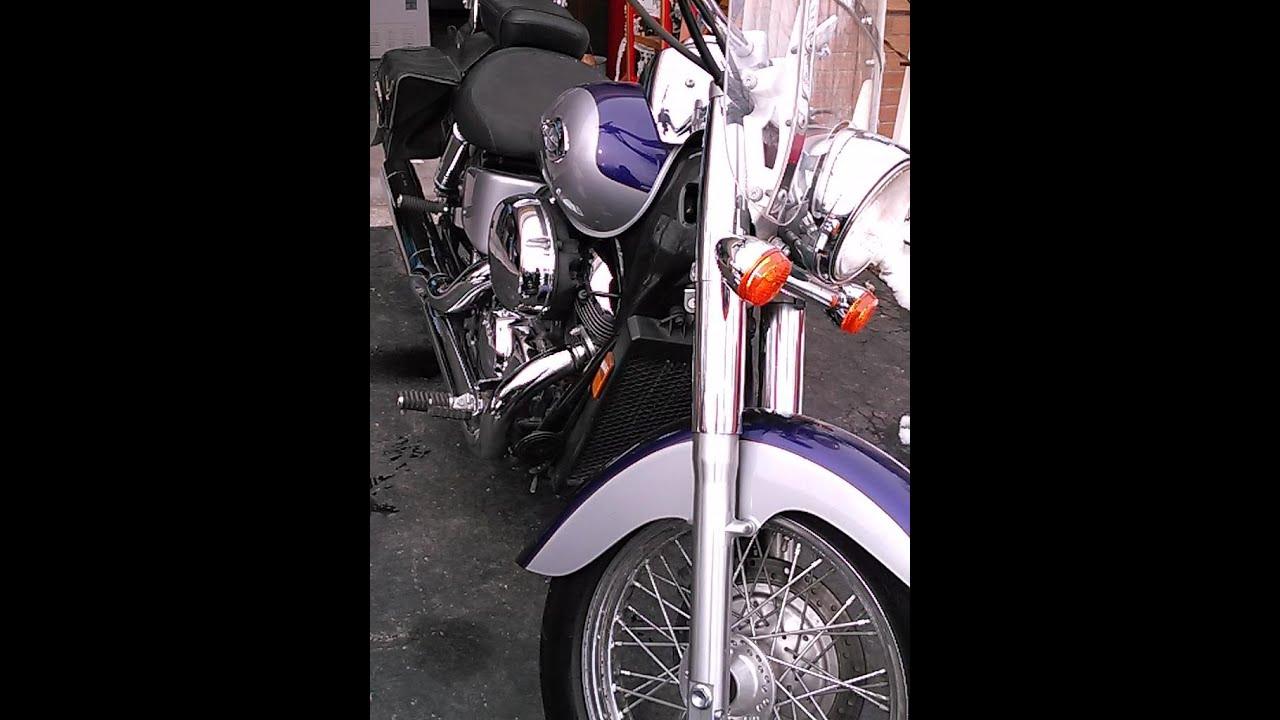 oil change   motorcycle honda shadow  youtube