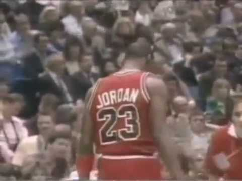 a434f05bf177 Michael Jordan 2 handed Reverse Dunk 1987 - YouTube