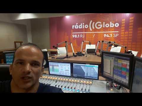SONOPLASTA TONINHO BONDADE MOSTRA A MESA DE ÁUDIO DA RÁDIO GLOBO (Software InfoAudio )
