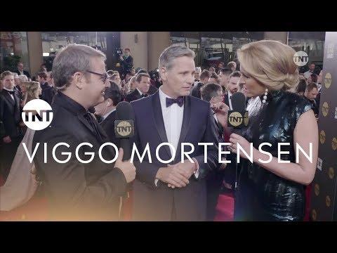 Viggo Mortensen mostró su fanatismo por San Lorenzo en la entrega de los Globos de Oro