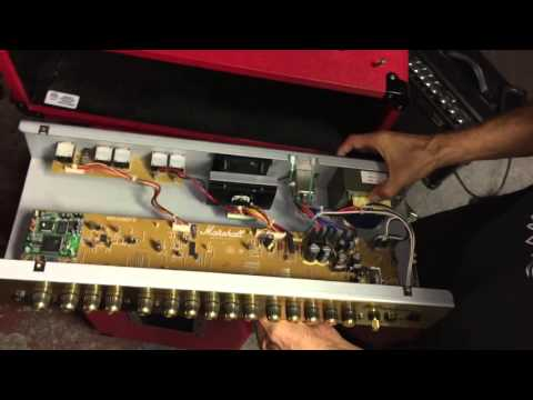 Marshall MG100 HDFX - Troubleshoot - Fuse on marshall avt150h head, marshall avt50h, marshall avt150 valvestate 2000,
