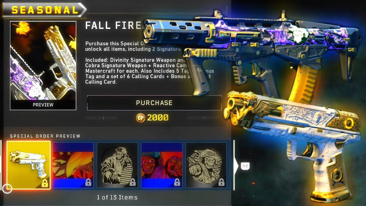 Call of Duty Black Ops 4's coveted signature weapons are