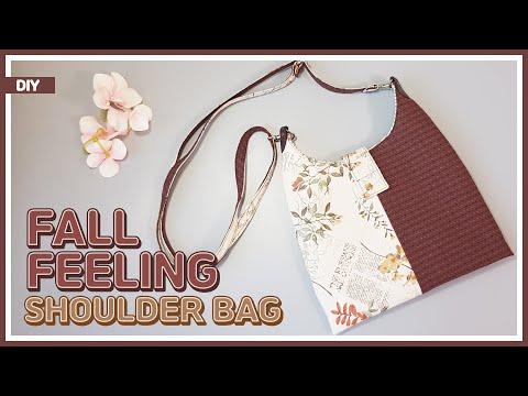 DIY/ FALL FEELING SHOULDER BAG/ 가을 분위기 숄더백 만들기 / 크로스백 겸용 / FREE PATTERN/ sewing / [텐더스마일 핸드메이드]