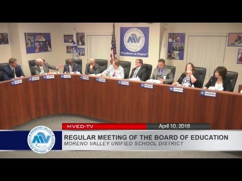 MVUSD Board Meeting 4-10-2018