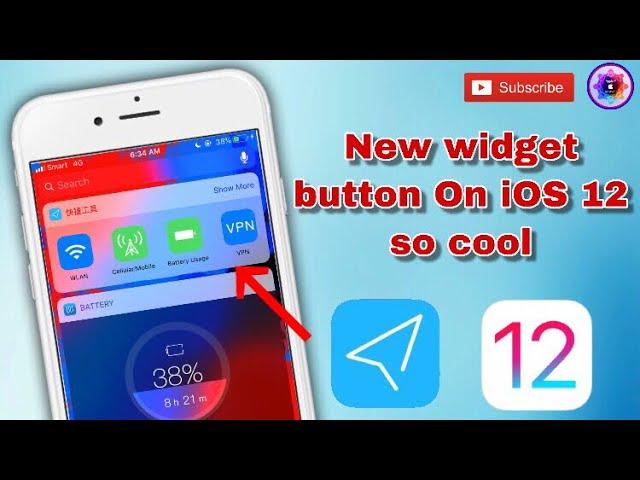 New widget button on iOS 12 is the best | sharetofb com