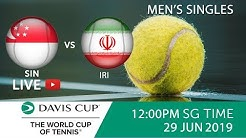 Singapore 🇸🇬 vs 🇮🇷 Iran Singles Match 2 | Davis Cup Asia Oceania Group III