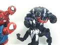 Marvel Legends Black Suited Spider Man Sandman BAF Wave Chefatron Toy Review