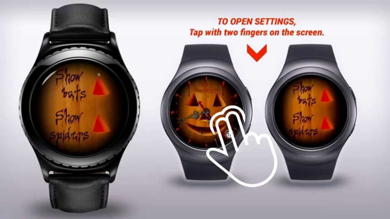 Check out this Halloween themed clock face for the Gear S2